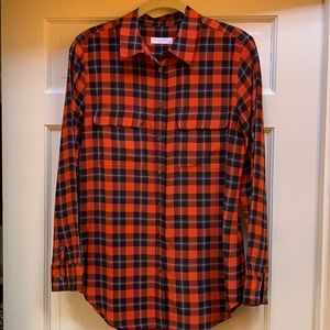 Equipment  Plaid Silk Shirt